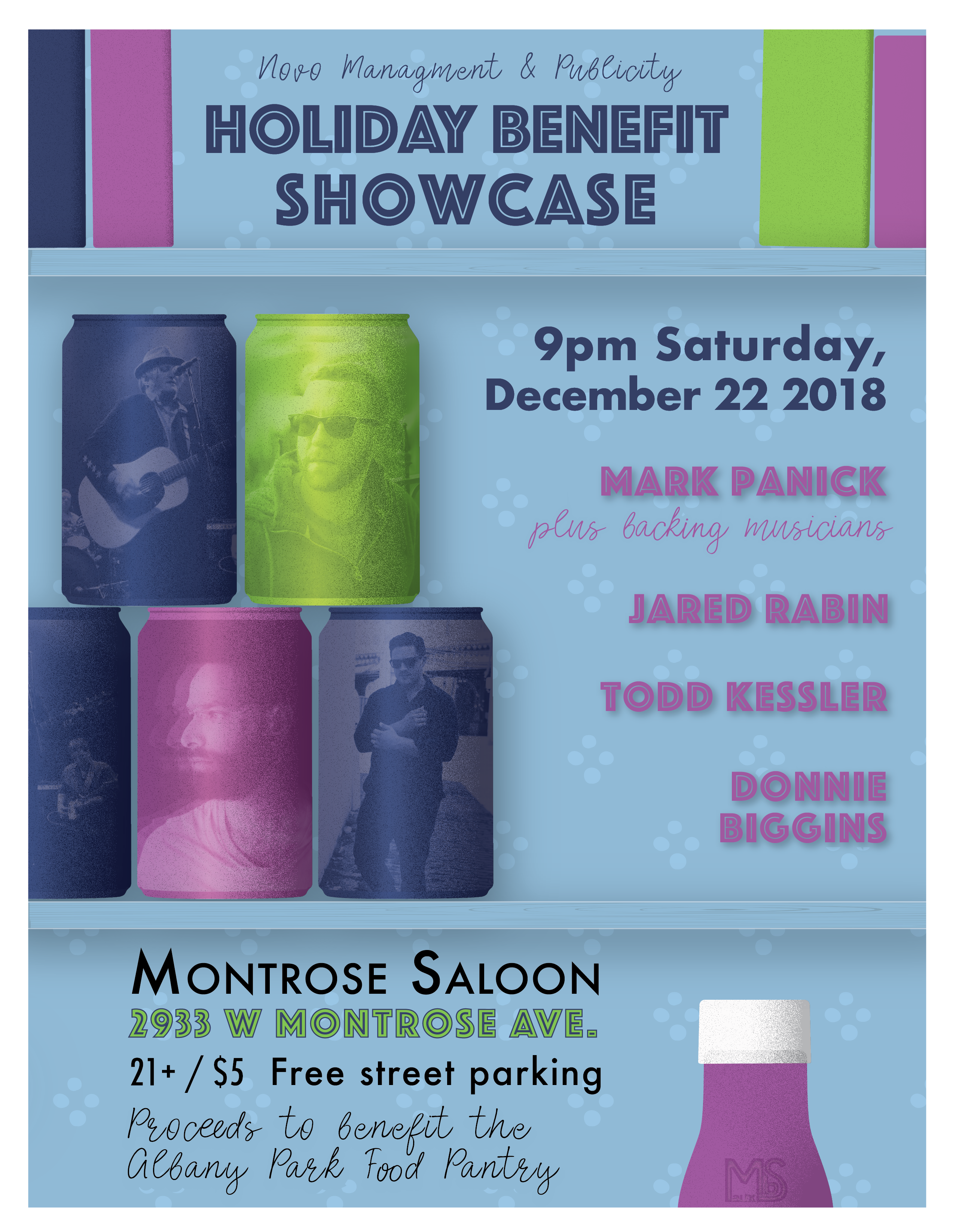 Holiday Benefit Showcase​ at Montrose Saloon | December 22, 2018 lead image